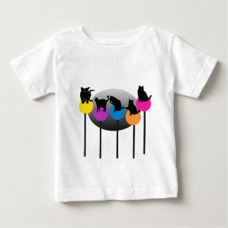 Gatos del Lollipop Playera De Bebé