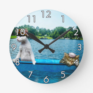 Gatos del marinero reloj de pared