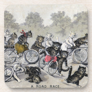Gatos del montar a caballo de la bicicleta posavasos de bebidas