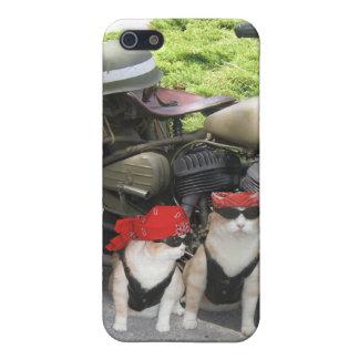 Gatos del motorista iPhone 5 funda
