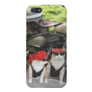 Gatos del motorista iPhone 5 fundas