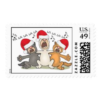Gatos del navidad del canto sellos
