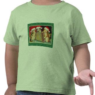 Gatos del navidad del vintage camiseta