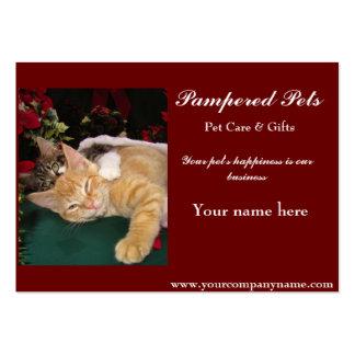 Gatos del navidad, gatitos lindos que abrazan, son tarjeta de visita