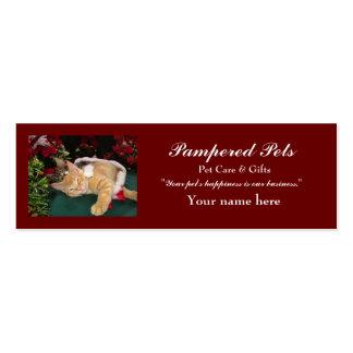 Gatos del navidad, gatitos lindos que abrazan, son tarjetas de visita