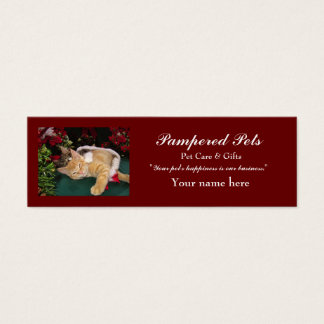 Gatos del navidad, gatitos lindos que abrazan, tarjeta de visita pequeña