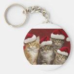 Gatos del navidad llaveros personalizados