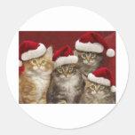 Gatos del navidad pegatinas
