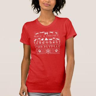 Gatos del navidad camiseta