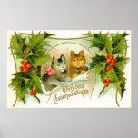 Gatos del navidad poster