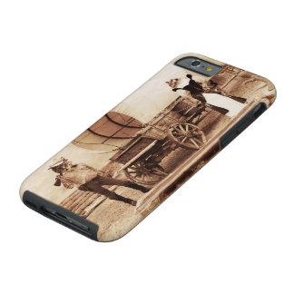 Gatos del oeste viejos con el carro cubierto funda resistente iPhone 6