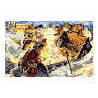 Gatos del pirata postal