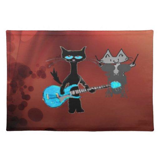 Gatos del rock-and-roll mantel