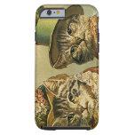 Gatos del Victorian del vintage en los gorras, Funda De iPhone 6 Tough