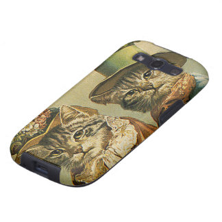 Gatos del Victorian del vintage en los gorras hum Samsung Galaxy SIII Funda