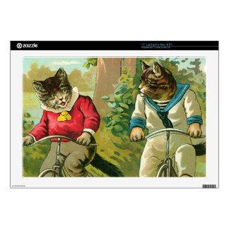 Gatos del vintage en la bicicleta portátil 43,2cm skins