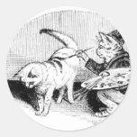 Gatos del vintage etiqueta