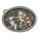 Gatos del vintage: Tres buenos amigos Hebilla De Cinturón