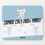 Gatos del zombi de Marte #05b Tapete De Ratón