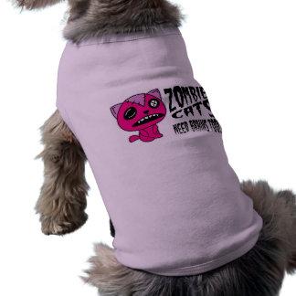 Gatos del ZOMBI Camisas De Perritos