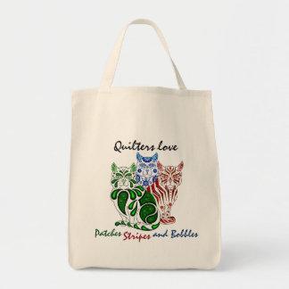 Gatos Delft del amor de Quilters (los Bolsa Tela Para La Compra