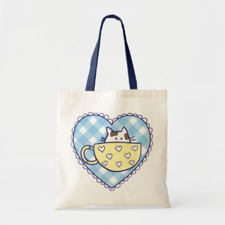 Gatos divertidos en bolso de las tazas bolsa