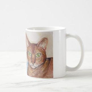 gatos dobles del problema tazas de café