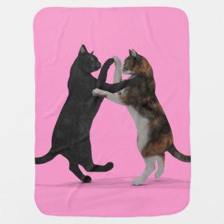 Gatos dulces del baile mantita para bebé