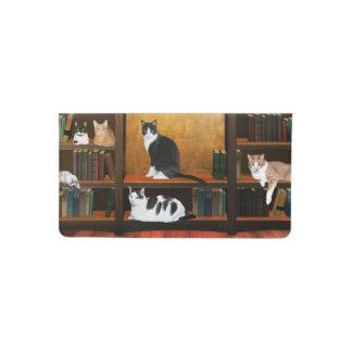 Gatos educados funda para chequera