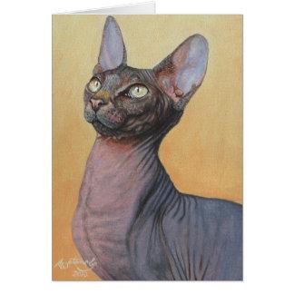 Gatos Electra del gato de la esfinge de Sphynx Tarjeta De Felicitación