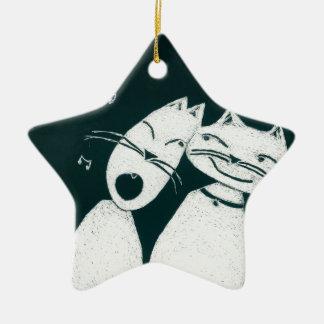Gatos en amor adornos de navidad