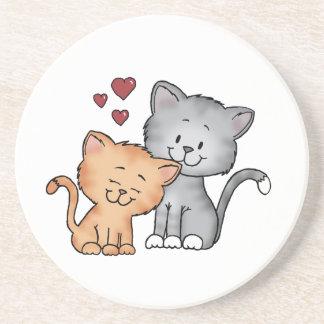 Gatos en amor - regalo del día de San Valentín Posavasos Manualidades