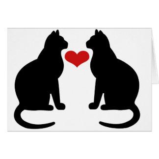 Gatos en amor tarjetas