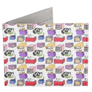 Gatos en cartera colorida del billetero de las billeteras tyvek®