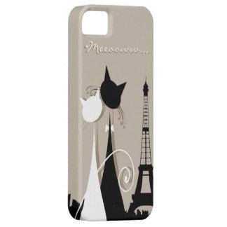 gatos en caso del iphone 5 de París iPhone 5 Case-Mate Protectores