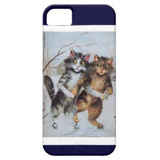 Gatos en el hielo - caso de la diversión iphone5 5 iPhone 5 cárcasas
