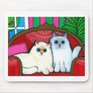 Gatos en el sofá alfombrilla de raton