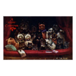 Gatos en el teatro para el navidad Louis Wain Poster