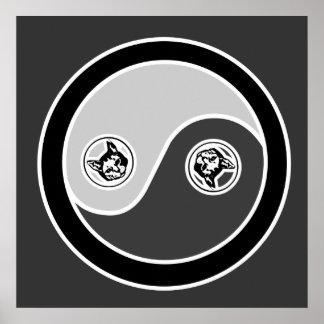 Gatos en equilibrio el poster de Yin Yang 1