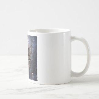 Gatos en espacio taza de café