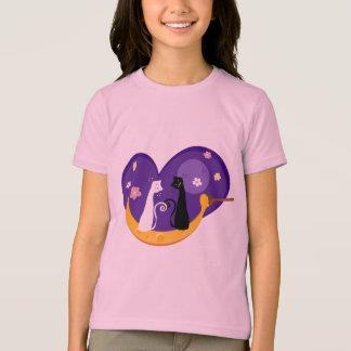 Gatos en la camiseta de la luna de la miel playera