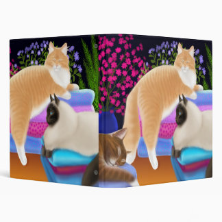 Gatos en la carpeta fresca de Avery del lavadero