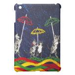 Gatos en la lluvia iPad mini carcasa