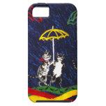 Gatos en la lluvia iPhone 5 protector
