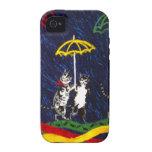 Gatos en la lluvia vibe iPhone 4 funda
