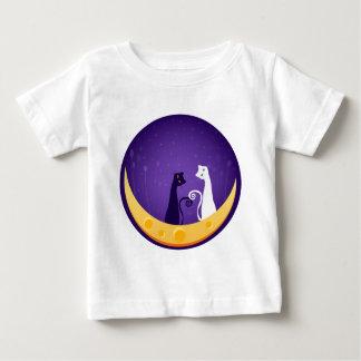 Gatos en la luna playeras