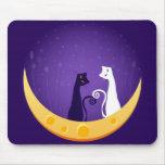Gatos en la luna tapetes de raton