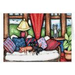 Gatos en la tarjeta de felicitación del Sunroom