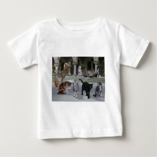 Gatos en los pasos del palacio playera de bebé