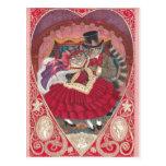 Gatos en postal de la tarjeta del día de San Valen